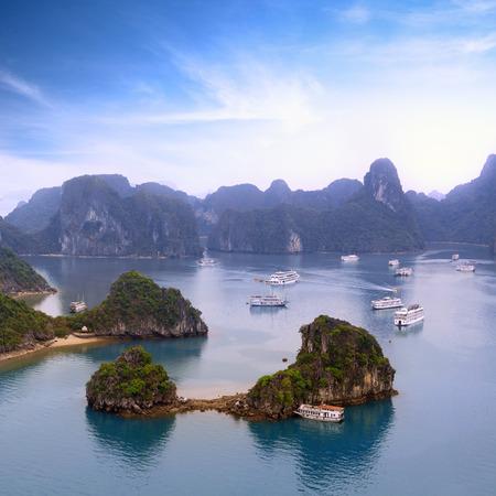 halong: Halong bay Vietnam panoramic view