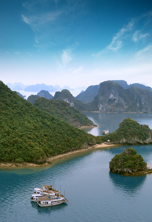 Halong bay Vietnam panoramic view photo