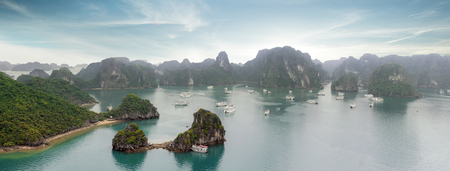 halong: Halong Bay panorama, Vietnam Stock Photo