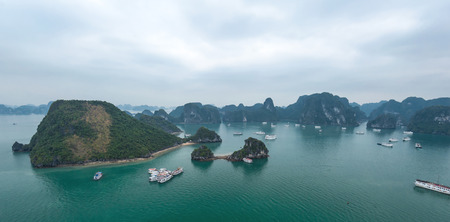 Halong Bay Vietnam. Ha Long Bay panoramic view photo