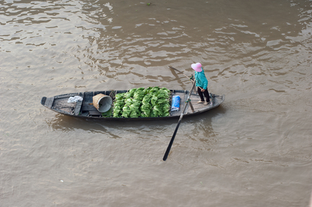 cai: Vietnam, Mekong Delta floating market in Can Tho Stock Photo