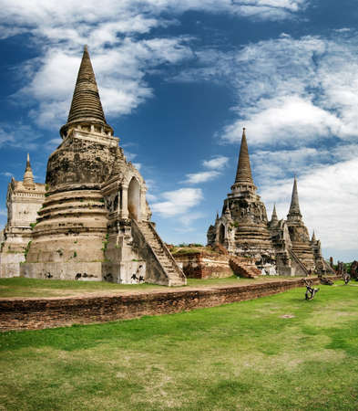 Ayutthaya Thailand - ancient city and historical place  Wat Phra Si Sanphet photo