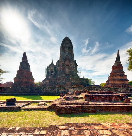 ayutthaya: Ayutthaya Thailand - ancient city and historical place. Wat Chai Watthanaram