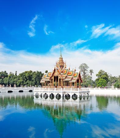 Bang Pa In ancient palace, former royal summer residence of Thai King near Ayutthaya and Bangkok, Thailand photo