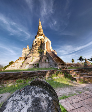 Ayutthaya Thailand - ancient city and historical place. Wat Phra Si Sanphet photo