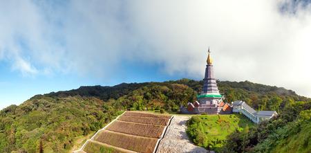 Doi Inthanon national park panorama in Chiang Mai, Thailand photo