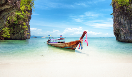 Exotic beach in Thailand. Asia travel destinations and tropical nature landscapes