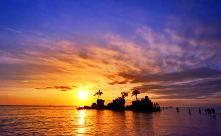 Bali island in Indonesia at sunset with beautiful sky, popular travel destination in Asia Stok Fotoğraf