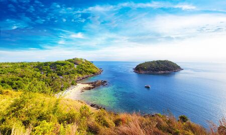 Coastline panoramic view of southern part of Phuket island in Thailand Stok Fotoğraf