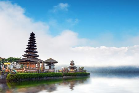 Bali temple in Indonesia. Ulun Danu famous travel landmark