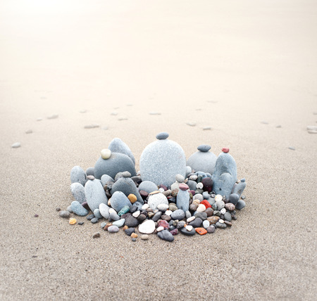 Stones pebbles on sea coast beach nature wallpaper background
