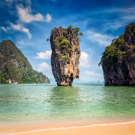 Phuket Thailand famous landmark - James Bond island
