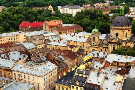 Old quarters of Lviv city in western Ukraine