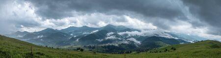 Carpathian mountain range panorama. Stok Fotoğraf