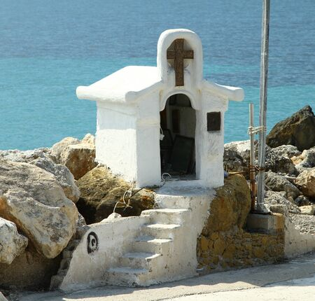 Chapel on the beach. The Greek island of Zakynthos