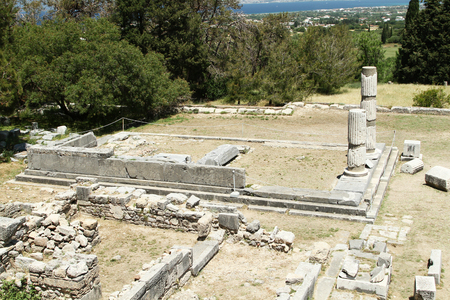 hippocrates: The Temple of Asclepius in one of the largest Asklepion. Kos Island. Greece Stock Photo