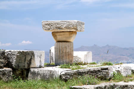 civilizations: The stones of old civilizations. Kos Island. Greece Stock Photo