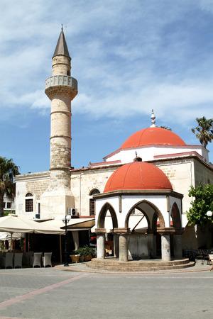 kos: Mosque Defender (1725) on the island of Kos. Greece Stock Photo
