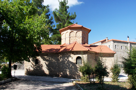 peloponnes: Church of Agia Lavra at Kalavryta village in Greece