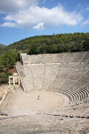 acoustics: Theater for 14 thousand seats in the ancient city of Epidaurus. Greece