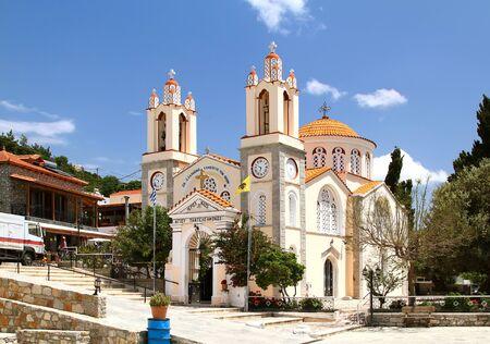Church of St. Panteleimon in the village of Siana. Rhodes. Greece