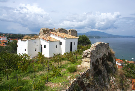 john the baptist: Cells in the monastery of St. John the Baptist in the city of Koroni. Peloponnese. Greece Stock Photo