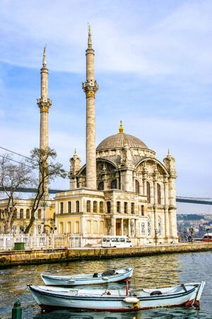 Ortakoy Mosque on the shore of the Bosphorus. Istanbul. Turkey Foto de archivo