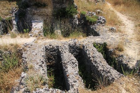 Burials of Mycenaean time near the village of Mazarata. Kefalonia island, Greece