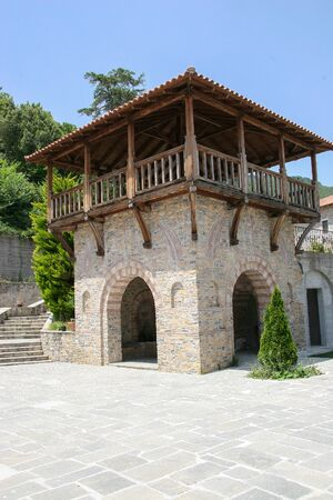 Source of the monastery of St. Dionysius of Olympia. Mount Olympus, Greece