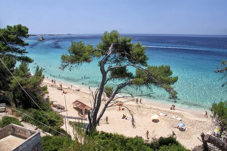 Beautiful sandy beach on the island of Kefalonia. Greece