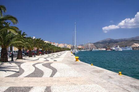 Embankment in Argostili - the capital of Kefalonia. Greece