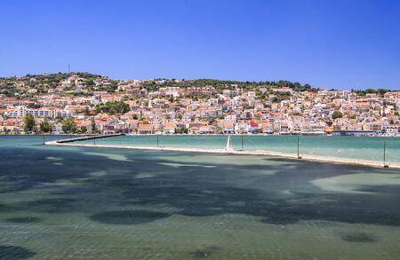 Drapano stone bridge across the bay in the capital of Kefalonia. Greece