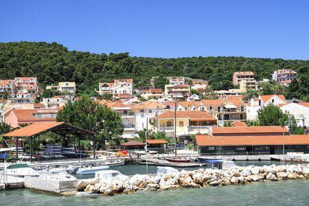 Kefalonia island coast with houses. Greece