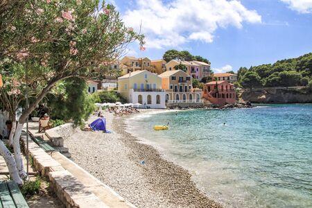 Small beach of the village of Assos. Kefalonia Greece