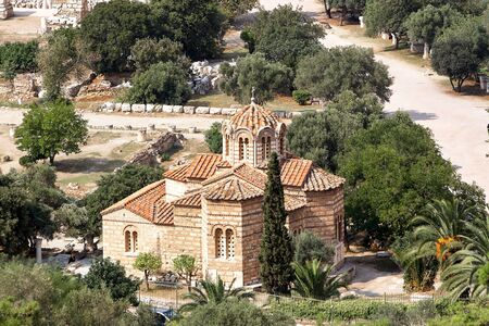 Church of the Holy Apostles in Athens. Greece Foto de archivo
