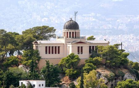 Athens National Observatory in the center of Athens. Greece Foto de archivo