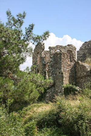 Ruins of ancient Mystra - the capital of the despotate Morea. Greece, Peloponnes