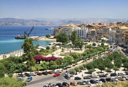 Spilia Square in the capital of Corfu. Greece
