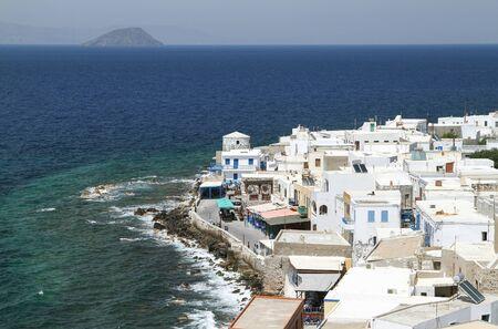 Mandraki is the capital of Nisyros Island. View from above. Greece Foto de archivo