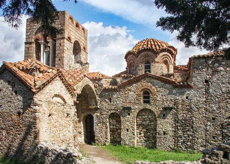 Byzantine church of Hagia Sophia in Mystras. Peloponnese. Greece