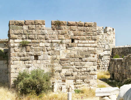 Bastion of the internal fortress of the Knights of St. John. Greece, island of Kos
