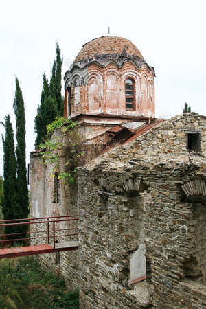 Ruins of a church on Mount Athos. Greece
