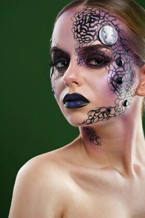 Artistic makeup model studio shots