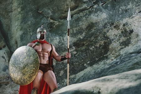 森の中でスパルタの戦士