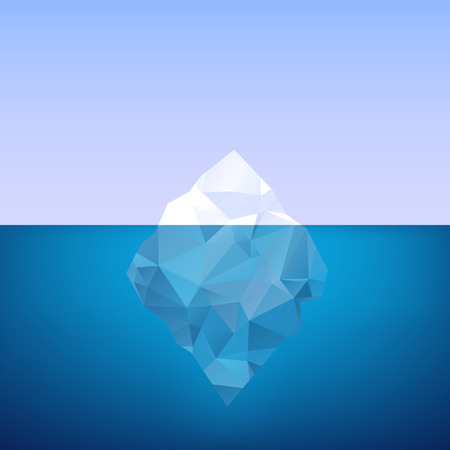 Iceberg. Vector illustration.
