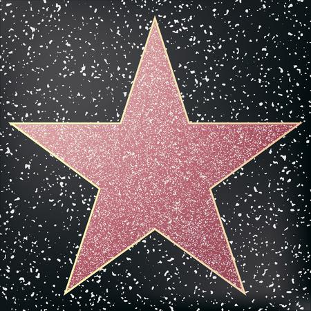 Walk of fame star. Star hollywood. Vector illustration. Illustration