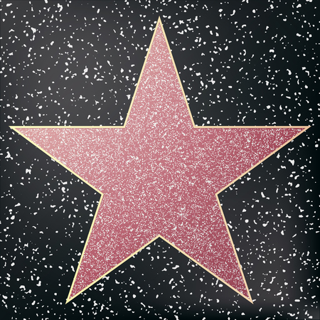 Walk of Fame Star. Star Hollywood. Vector illustratie. Stock Illustratie