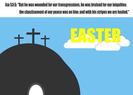 Easter Jesus. Vector illustration.