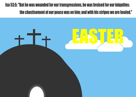 grave stone: Easter Jesus. Vector illustration.
