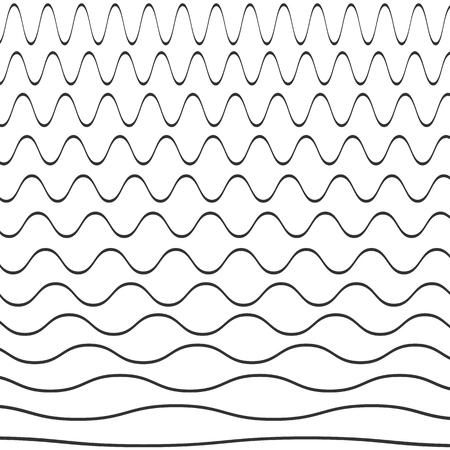 Set von Wellenmuster. Vektor-Illustration.